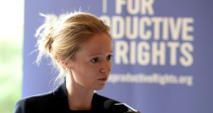 "Leah Hoctor, regional director at the Centre for Reproductive Rights:  ""The Government and Oireachtas must show leadership and act."" Photograph: Cyril Byrne"