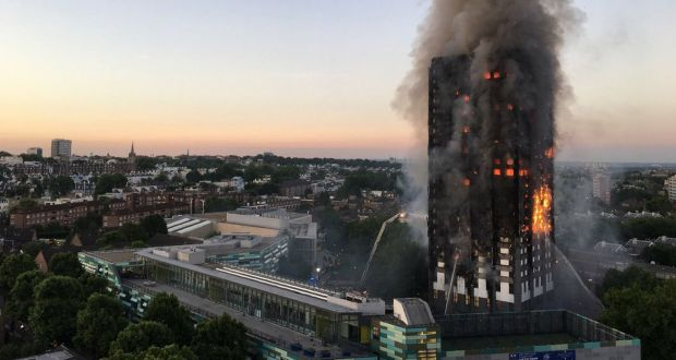 Image result for Breaking: Huge fire engulfs 24-story apartment block in West London
