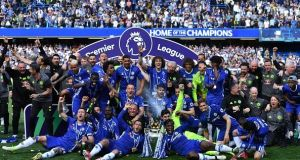 Champions Chelsea begin the defence of their title at home to Burnley. Photograph: Ben Stansall/AFP