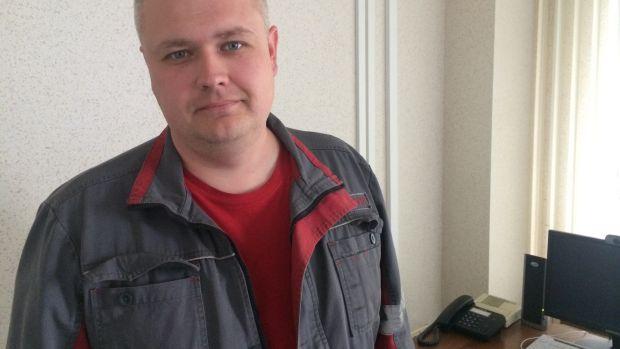 Alexei Bobyr, head of the production department of the Avdiivka coke factory. Photograph: Dan McLaughlin