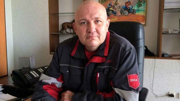 Ruslan Kolisov, head of the transport department of the Avdiivka coke factory. Photograph: Dan McLaughlin