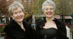Ann Louise Gilligan (left) and Katherine Zappone pictured in 2005. Photograph: David Sleator