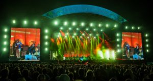 Arcade Fire performing at the  Isle of Wight Festival last weekend. Photograph: David Jensen/PA Wire
