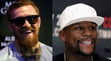 Conor McGregor and Floyd Mayweather gith on August 26th in Las Vegas. Photograph: PA