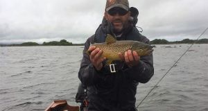 Brian Madden from Clare with one of 13 trout from Corrib