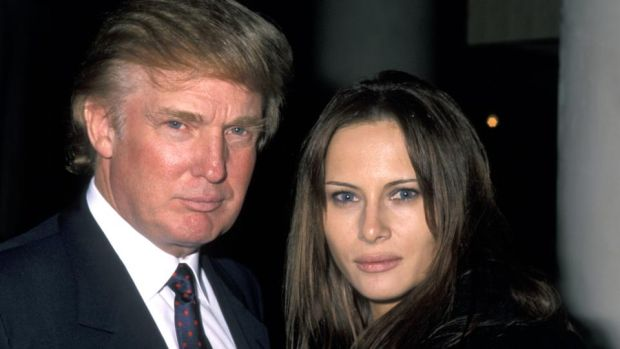 Donald and Melania: the Trumps in 1998, the year they met. She got a luxurious home; he got a quiet, sexy wife. Photograph: Ron Galella/WireImage/Getty