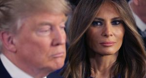Odd couple: Donald Trump and Melania during the 2016 presidential campaign. Photograph: Chip Somodevilla/Getty