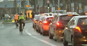 Cycling to work had the largest percentage increase of any form of transport. Photograph: Alan Betson