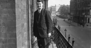 Michael Collins in London for the Treaty negotiations in 1921. Photograph: Hulton Archive