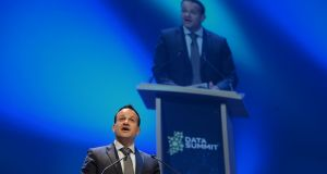 Leo Varadkar addressing the Data Summit in Dublin, his first public appearance at an event as Taoiseach. Photograph: Alan Betson/The Irish Times