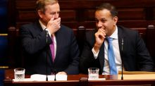 The newly elected Taoiseach Leo Varadkar with his predecessor Enda Kenny at Leinster House. Photograph: Maxwell Photography