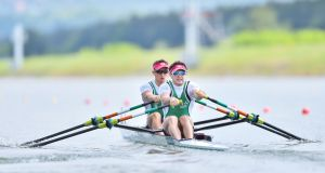 Paul O'Donovan and Gary O'Donovan are into the World Cup Regatta final in Poland. Photograph: Inpho