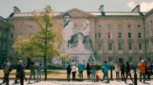 The story behind the Trinity College street art installation