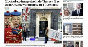 Theresa May in a unionist band: The DUP has seen itself  mocked in  tweets, news websites and cartoons