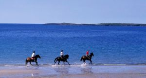 Riding stables attract experienced riders from the UK and Scandinavia, who are looking for a particular type of holiday. Photograph: Fáilte Ireland