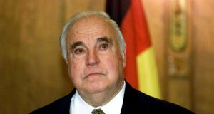 "Helmut Kohl in 2000. ""We mourn,"" Kohl's Christian Democratic Union party (CDU) tweeted with a picture of the former chancellor. Photograph:  Attila Kisbenedek/EPA"