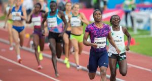 Caster Semenya winning the women's   800m  at the Golden League Bislett Games in Oslo. Photograph: Vidar Ruud/Reuters