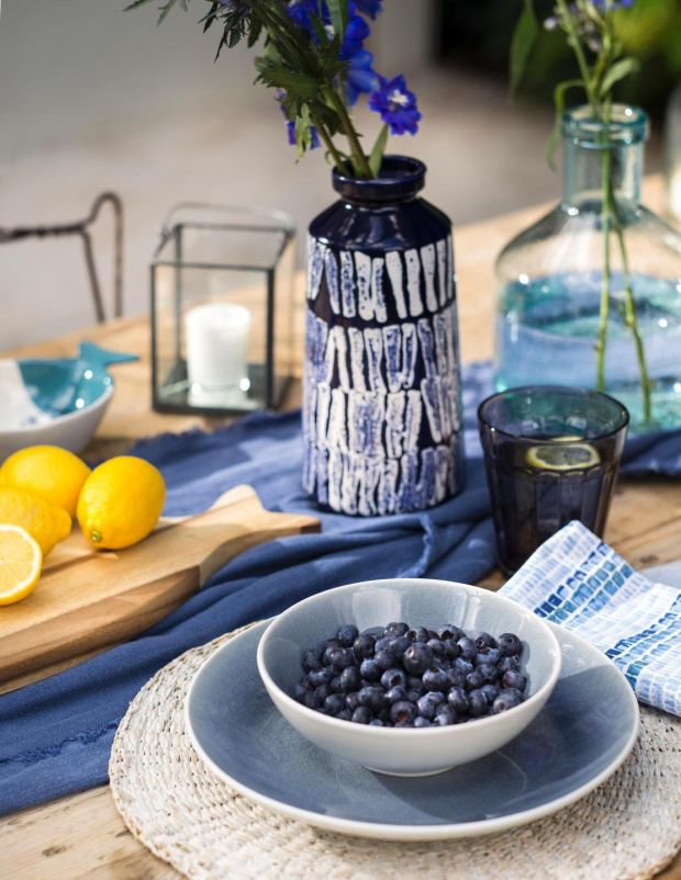 Villa Vista coastal-themed dinnerware collection from House of Fraser