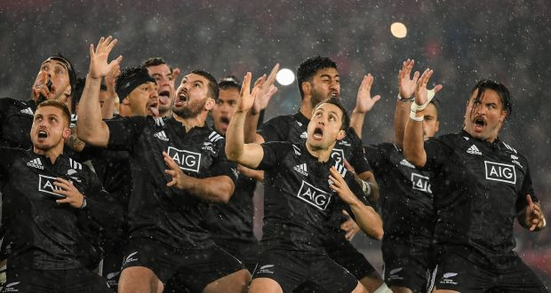 Maori All Blacks perform the haka before facing Munster in November 2016.  Photo  Getty d56fc8f93