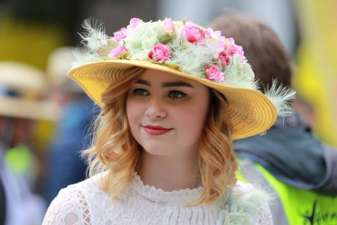 Jade Wolfe at the Bloomsday Messenger Bike Rally & Lunch in aid of the Irish Youth Foundation.  Photograph: Nick Bradshaw / The Irish Times