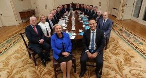 "Taoiseach Leo Varadkar, Tánaiste Frances Fitzgerald and the  Cabinet: Mr Varadkar  is likely to scale down the engagements he will attend and become a ""bit more removed"". Photograph:  Maxwellphotography.ie"