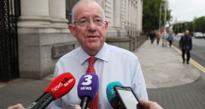 Charlie Flanagan: made his views on staying in Foreign Affairs known but ultimately acceded to his move to Justice. Photograph: Brian Lawless/PA Wire