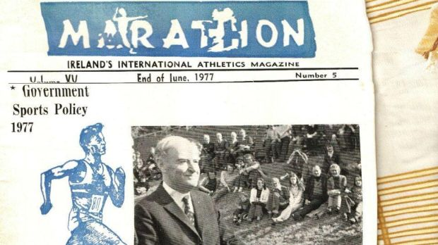 Then taoiseach Liam Cosgrave opened the new athletics track at Belfield in 1977.