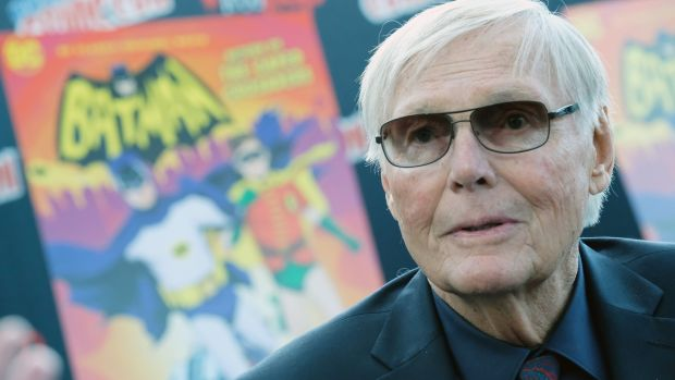 Adam West attends Comic-Con in New York in 2016. Last year he also guest-starred in the sitcom 'The Big Bang Theory' as himself. Photograph: Mike Coppola/Getty Images