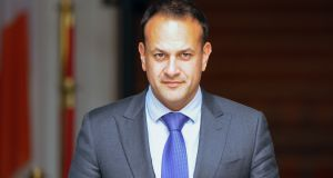 Taoiseach Leo Varadkar:  he is due to meet British prime minister Theresa May in London on Monday. Photograph: Aidan Crawley/Bloomberg