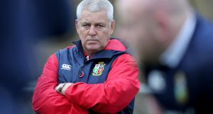 "Lions head coach Warren Gatland: ""The frustrating thing for us is the amount of blocking that's going on, the off-the-ball stuff.""  Photograph: INPHO/Dan Sheridan"