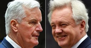 The talks are on:  European Commission member in charge of Brexit negotiations with Britain, Michel Barnier  and British Secretary of State for Exiting the European Union (Brexit Minister) David Davis. (Photograph: Ben STANSALL AND Emmanuel DUNAND//AFP/Getty Images)
