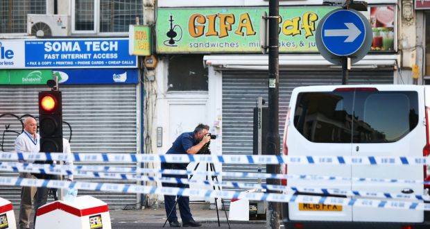 69d5d93888153a Police officers attend to the scene after a vehicle collided with  pedestrians in the Finsbury Park