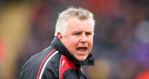 Mayo manager Stephen Rochford will hope his team can respond against Derry in the qualifiers. Photograph: Inpho