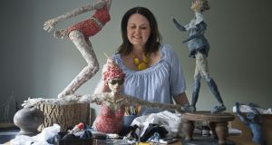 Dawn Conn  in her studio at Malahide, Co Dublin. Photograph: Dave Meehan