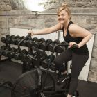 "Dominique McMullan working out at The Vaults: ""What's really motivated me is realising that I'm capable of more than I thought."" Photograph: Dave Meehan"