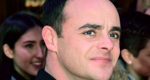 Ant McPartlin feels he has 'let people down' following a battle with depression, alcohol and substance abuse. Photograph: Ian West/PA Wire
