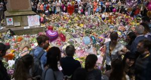 Flowers in St Ann's Square in Manchester a few days after last month's terror attack at the Manchester Arena. Photograph: Oli Scarff/AFP/Getty Images