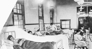"Mary Mallon, aka  ""Typhoid Mary"", pictred after being institutionalised on Brother Island in New York. She was  the first person identified as a carrier of typhoid bacilli in the US. Herself immune to the disease, she spread typhoid while working as a cook in the New York City area. Photograph: Getty Images"