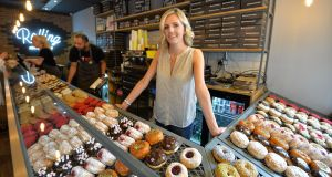 Lisa Quinlan, owner of the Rolling Donut in South King Street, Dublin. Photograph: Alan Betson