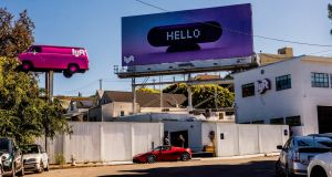 Lyft: a driver hub in San Francisco, the city where the ride-hailing service is based. Photograph: Christie Hemm Klok/New York Times