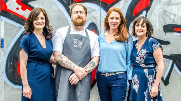 Food On The Edge organisers Drigin Gaffey, JP McMahon, Olivia Collins and Ruth Hegarty. Photograph: Nic Crilly