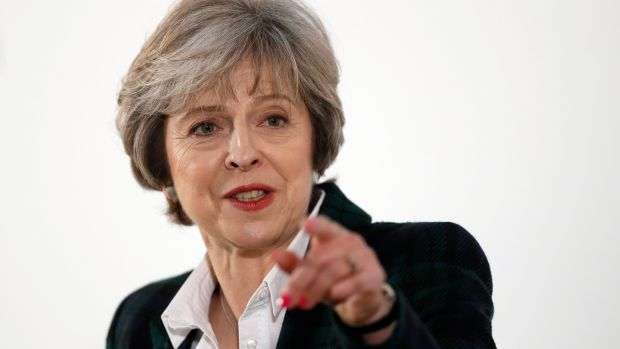 Theresa May: experts have queried the practicalities of the British prime minister's claim that no deal would be better than a bad deal. Photograph: Kirsty Wigglesworth/Pool/Getty
