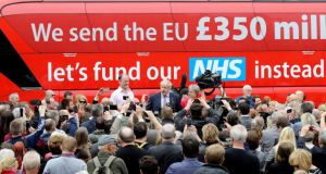 £350m a week for the NHS: Boris Johnson's claim was founded on some pretty shaky maths. Photograph: Christopher Furlong/Getty