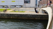 Dublin teens go head over heels for diving on a sunny day