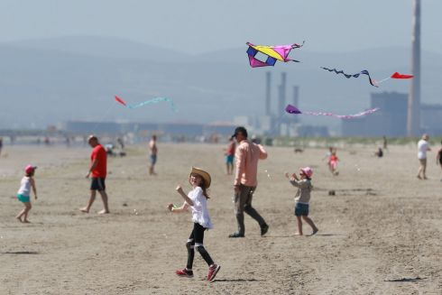 Erin Donnelly from Balbriggan flying her kite at the festival.