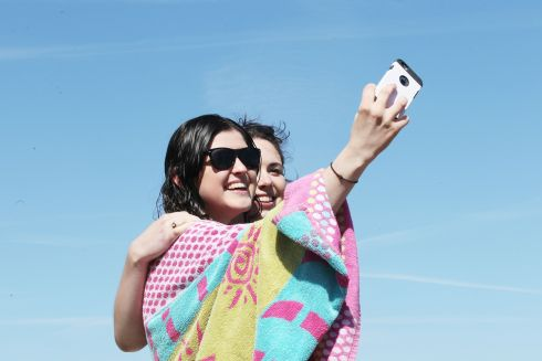 Taking a selfie during scorcher at Sandycove over the weekend.