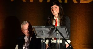 Award-winning novelist Sara Baume. Photo: Dara Mac Dónaill