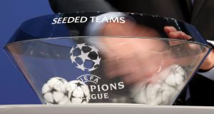 Irish clubs enjoyed mixed fortunes in the draws for the Champions League and Europa League at Uefa headquarters in Nyon, Switzerland. Photograph: Salvatore Di Nolfi/EPA
