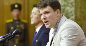 Otto Frederick Warmbier has died after his return to the US, following his detention in North Korea. Photograph: Reuters/Kyodo