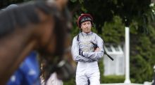 "Frankie Dettori : ""I've been trying so hard to get fit for today but had to accept this morning it wasn't going to happen."" Photograph: Alan Crowhurst/Getty Images"